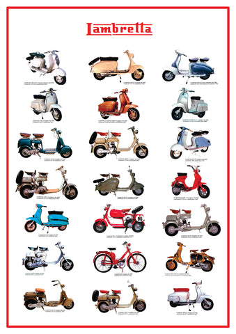 The Road Cars POSTER LAMBRETTA
