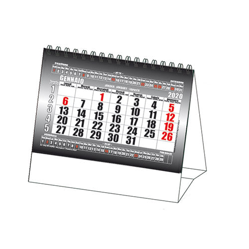 Copia del Calendario Orizzontale Black
