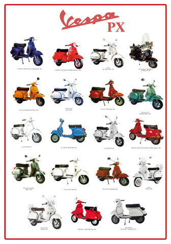 The Road Cars POSTER VESPA PX