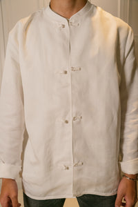 Full product shot of mandarin scholar jacket (front view)