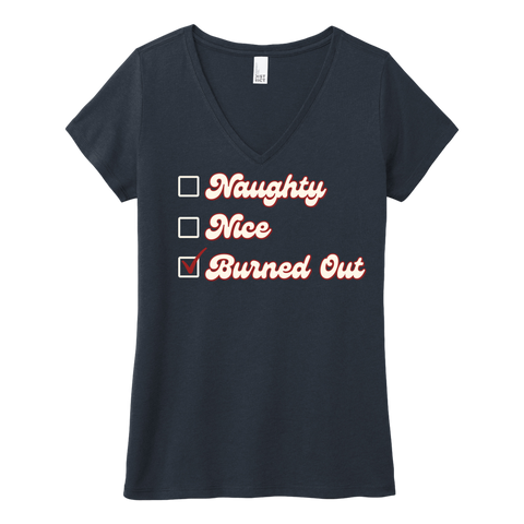 Naughty or Nice • ladies v-neck tee