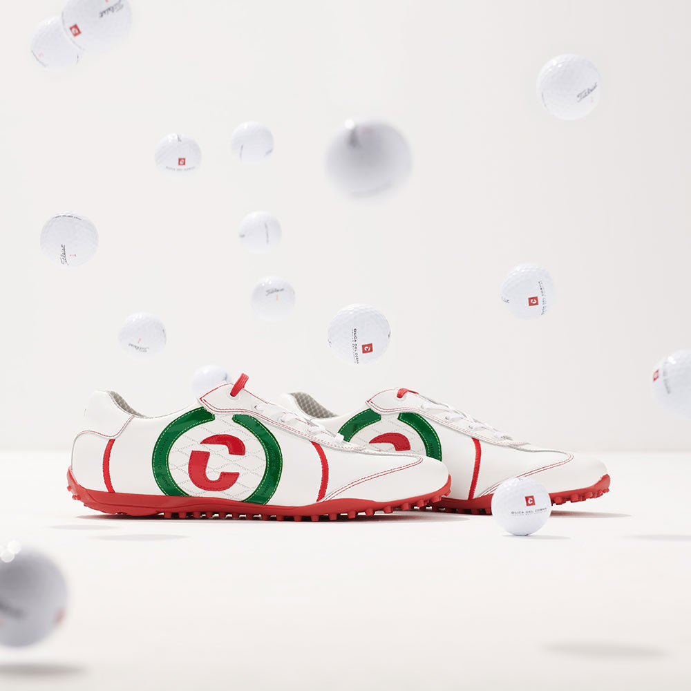 Kuba italian flag golf shoe with bouncing golf balls