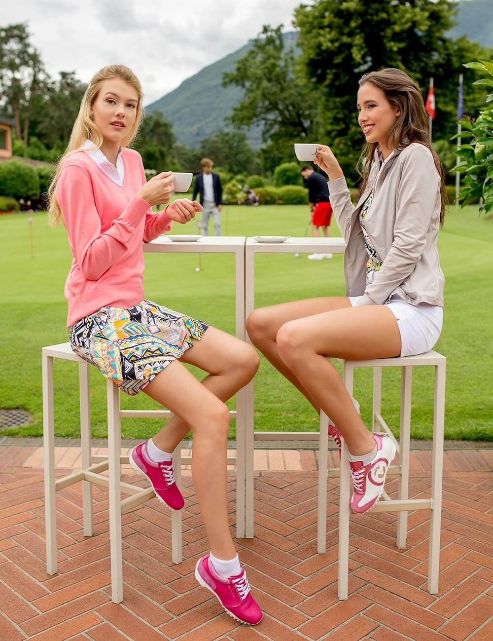 women wearing Duca del Cosma womens golf shoes