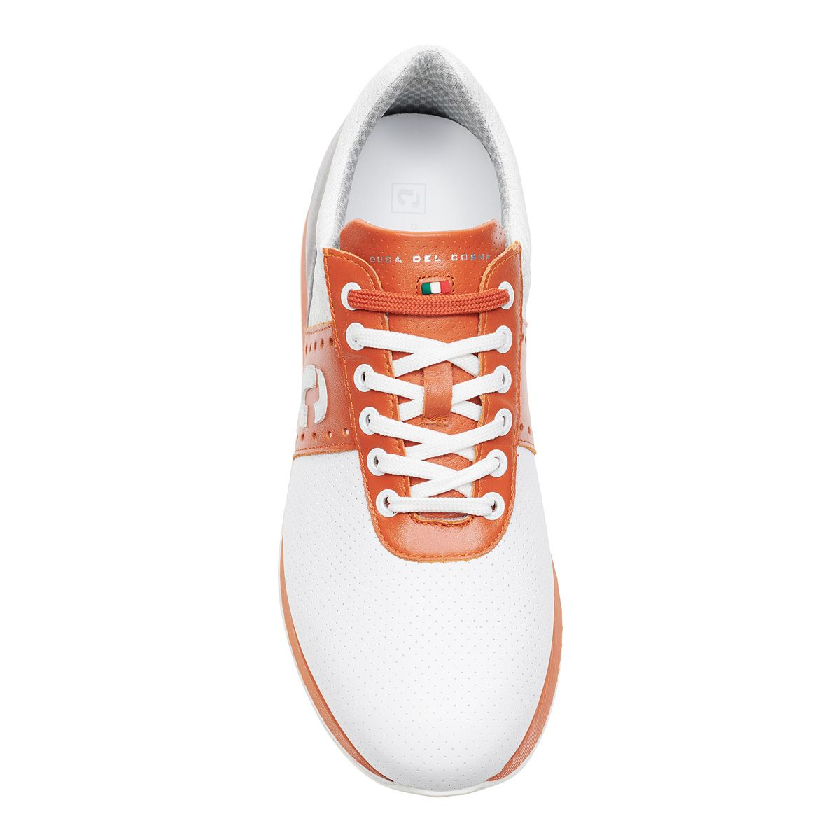 Men's Belair White / Orange / Light Grey Golf Shoe