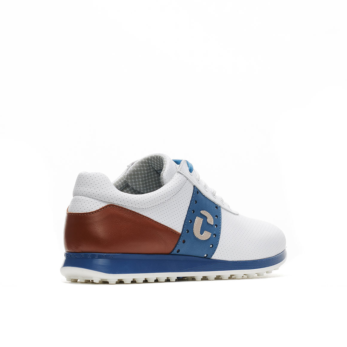 Men's Belair White / Cognac Golf Shoe