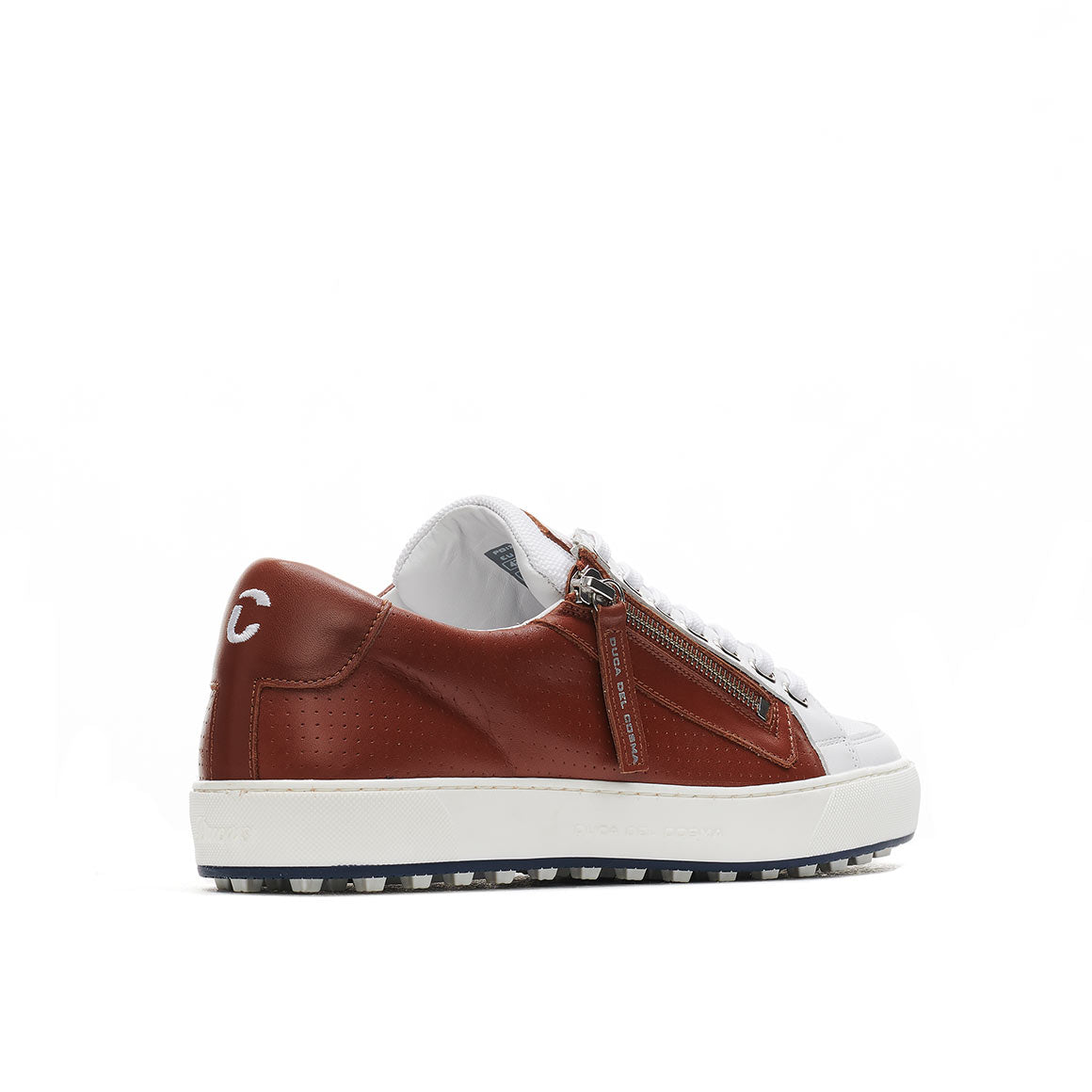 Men's California Cognac / White Golf Sport Shoe