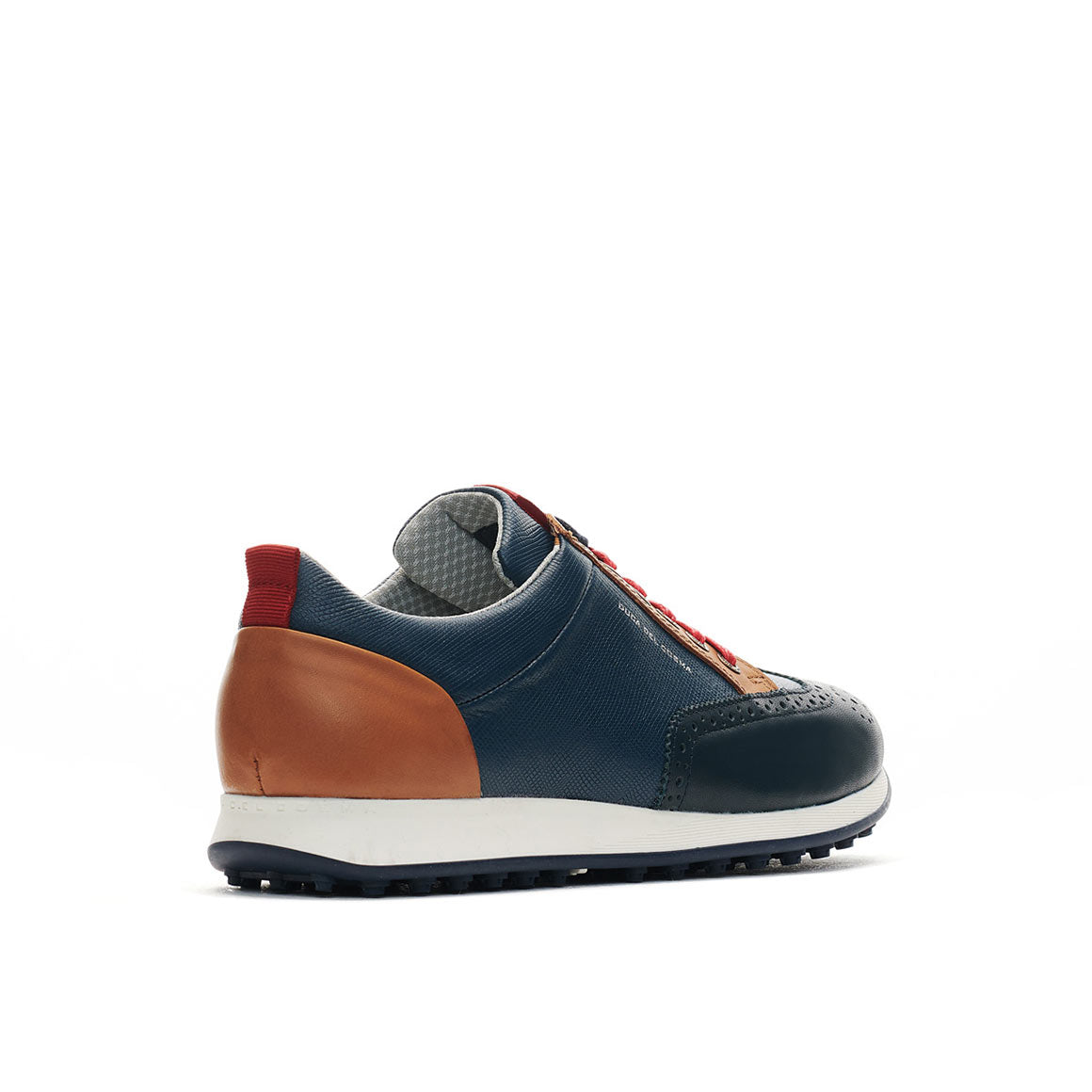 Men's Camelot Navy / Cognac / Red Golf Shoe