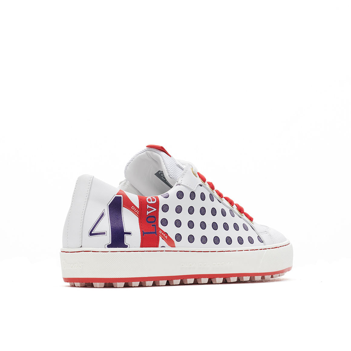 Women's Esti White / Red Golf Shoe