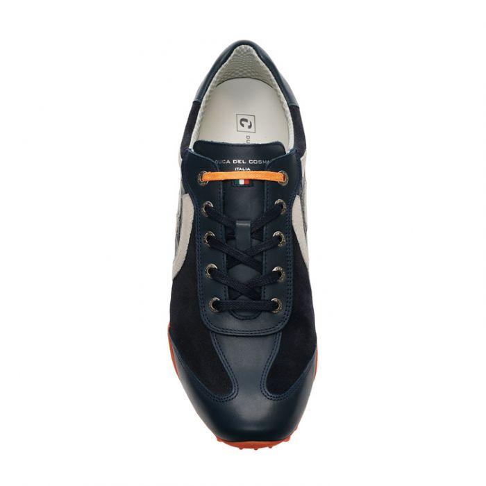 Men's Kuba Suede A3 Navy / Orange Golf Shoe
