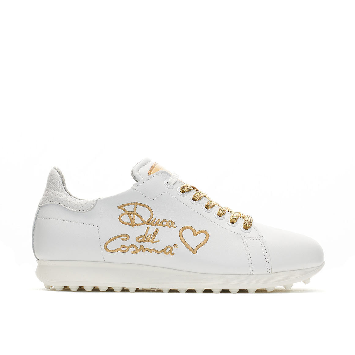 Women's Style White / Gold Golf Shoe