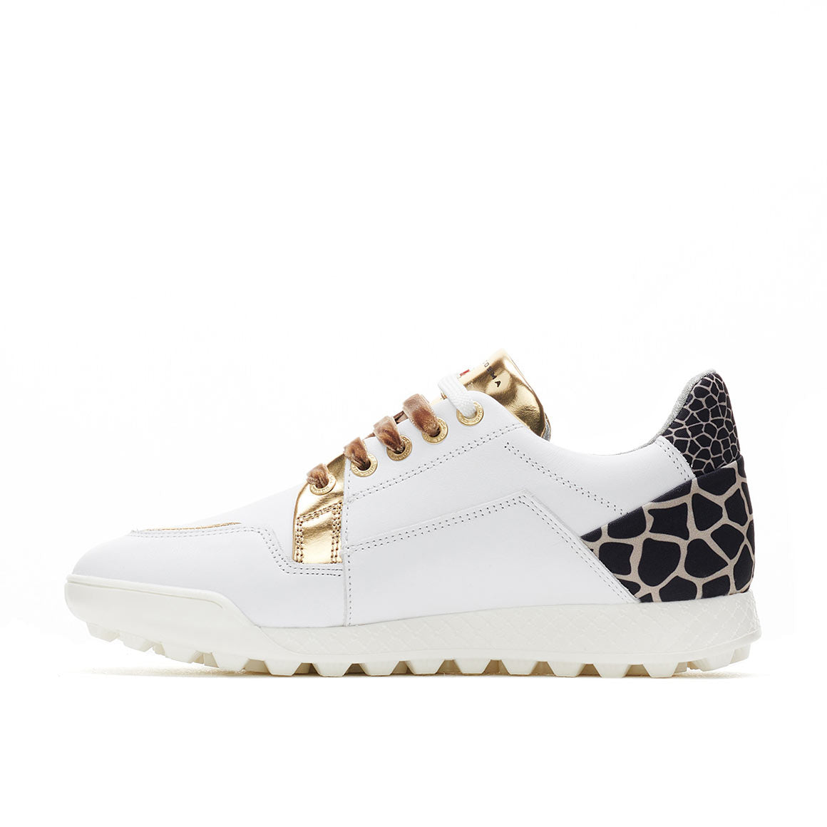 Women's Vinci White / Gold Golf Shoe