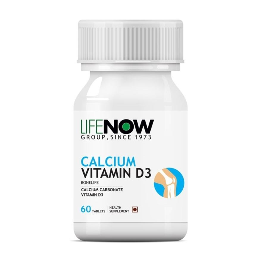 Lifenow Calcium Vitamin D3 Supplement - 60 Tablets - NutraC - Health & Nutrition Store