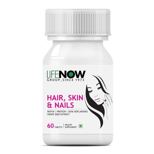Lifenow Biotin Advanced Hair Skin & Nails Supplement with Multivitamin Minerals Amino Acids for Hair Growth – 60 Capsules - NutraC - Health & Nutrition Store
