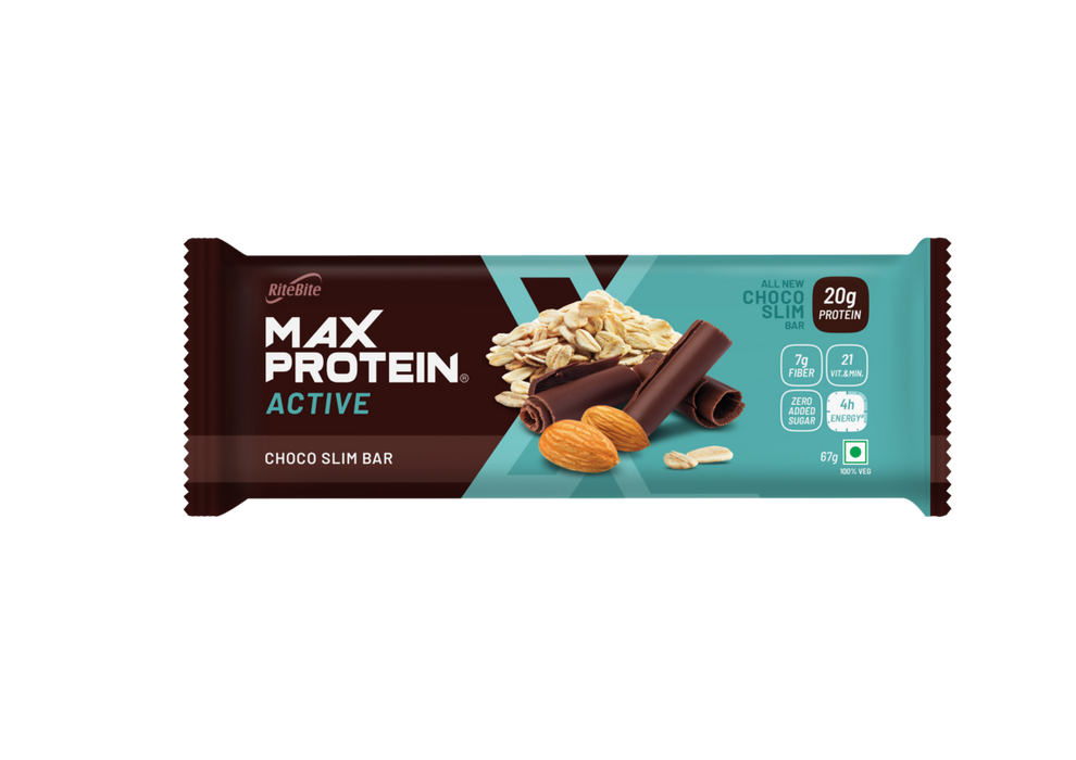 RiteBite Max Protein Active Choco Slim Bars 804g - Pack of 12 (67g x 12)