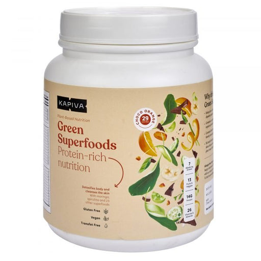 KAPIVA GREEN SUPERFOODS CHOCO-ORANGE- 1 KG - NutraC - Health & Nutrition Store