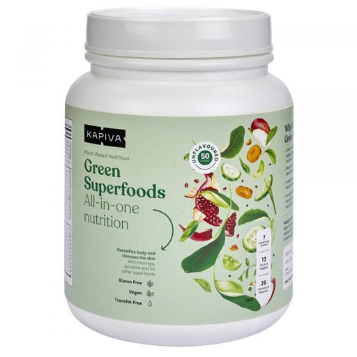 KAPIVA GREEN SUPERFOODS UNFLAVOURED- 1KG - NutraC - Health & Nutrition Store