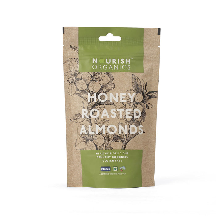 Nourish Organics Honey Roasted Almonds - NutraC - Health & Nutrition Store