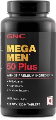 GNC Mega Men 50 Plus - 120 Tablets  (120 Tablets) - NutraC - Health & Nutrition Store