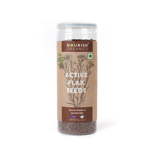 Nourish Organics Active Flax Seeds - NutraC - Health & Nutrition Store