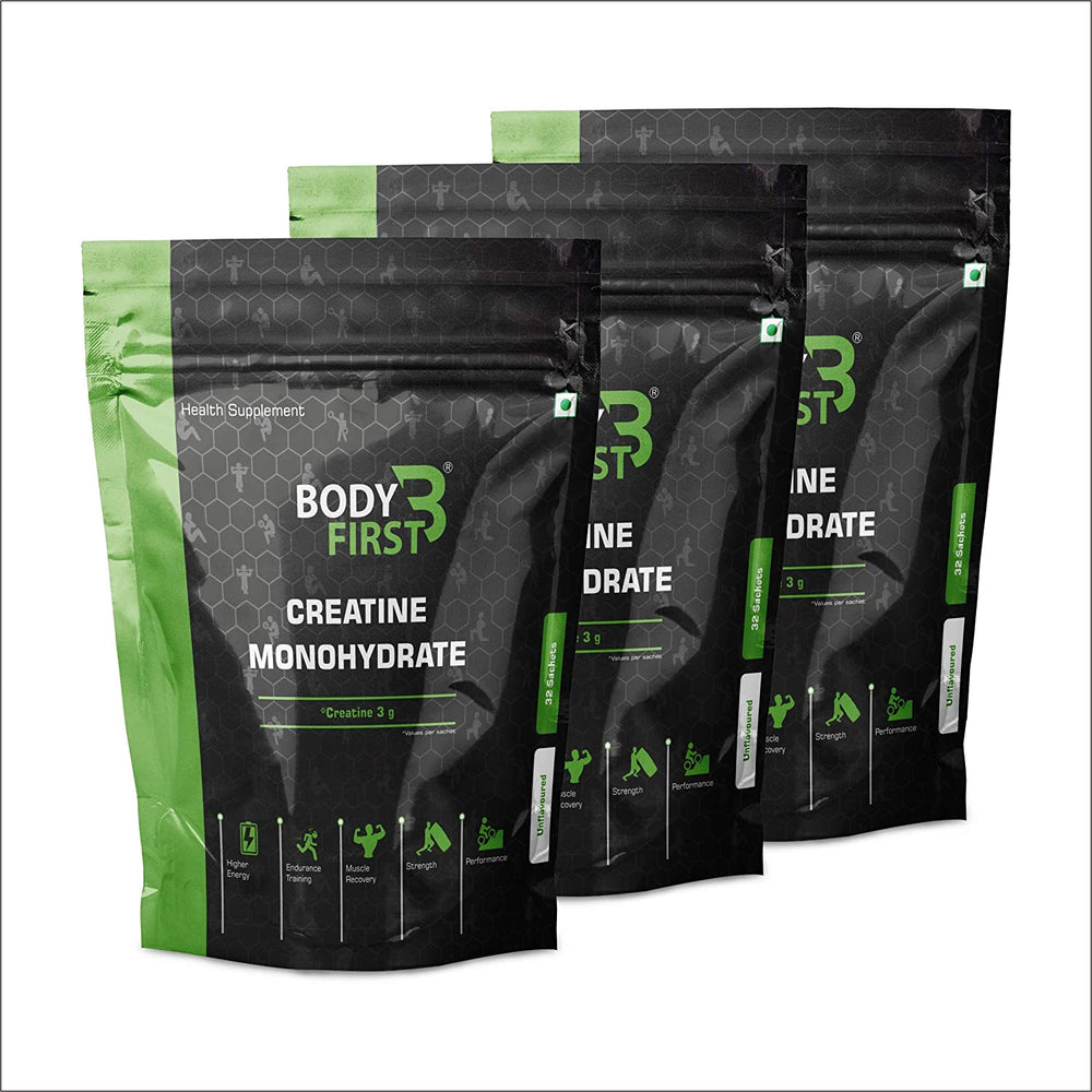 BodyFirst Micronised Creatine Monohydrate, 288g , 96 Sachets / Servings , Unflavoured - NutraC - Health & Nutrition Store