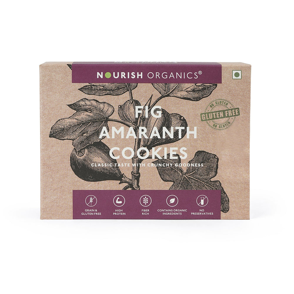 Nourish Organics Fig Amaranth Cookies - NutraC - Health & Nutrition Store