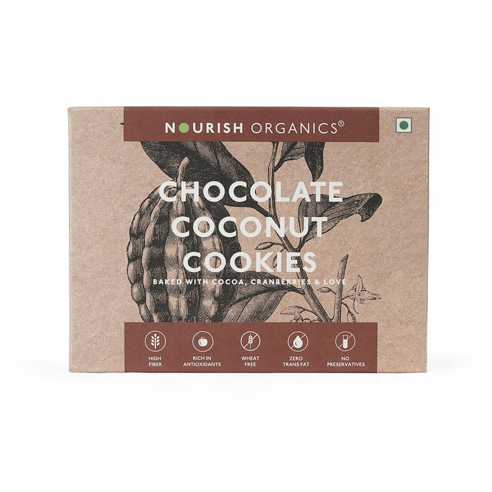 Nourish Organics Chocolate Coconut Cookies - NutraC - Health & Nutrition Store