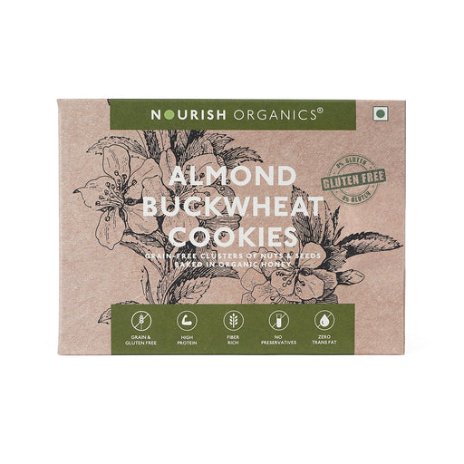 Nourish Organics Almond Buckwheat Cookies - NutraC - Health & Nutrition Store
