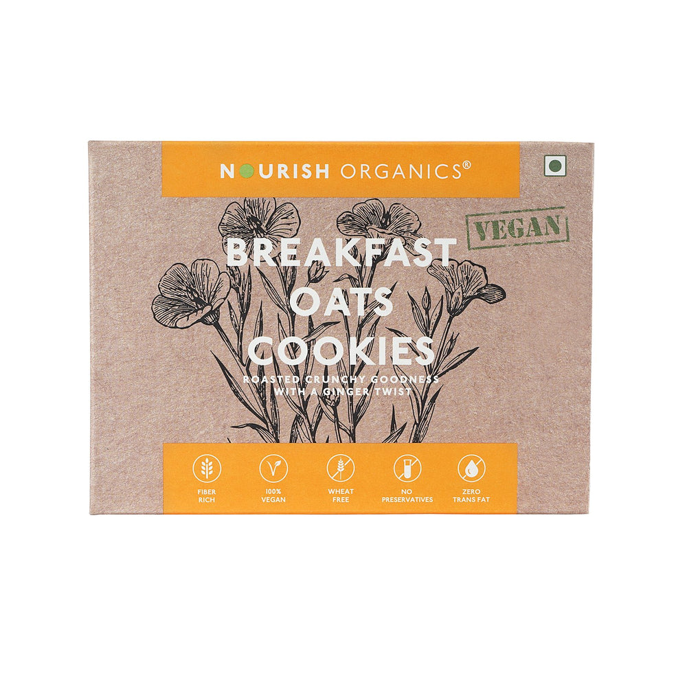 Nourish Organics Breakfast Oat Cookies - NutraC - Health & Nutrition Store