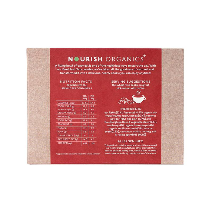 Nourish Organics Oats Cranberry Cookies - NutraC - Health & Nutrition Store
