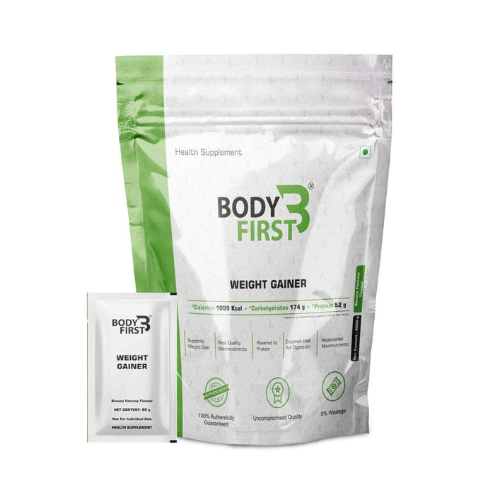 BodyFirst Weight Gainer - Banana 3 Kg - NutraC - Health & Nutrition Store