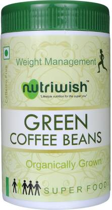 NUTRIWISH Coffee Beans - Green (Organically Grown In Araku Valley) - NutraC - Health & Nutrition Store