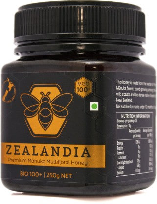 Zealandia Manuka Honey MGO 100+  (250 g) - NutraC - Health & Nutrition Store