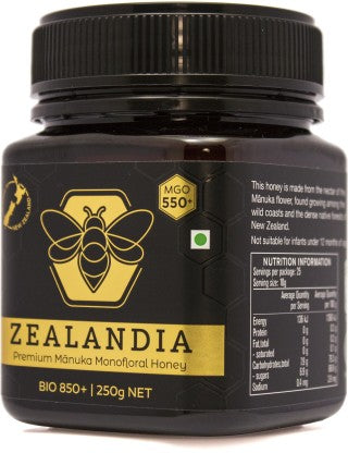 Zealandia Manuka Honey 550+  (250g) - NutraC - Health & Nutrition Store