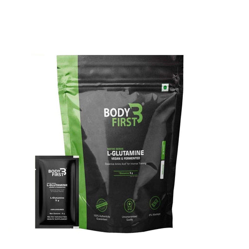 BodyFirstVegan & Fermented L-Glutamine, Essential Amino Acid , 250 grams , 50 Servings