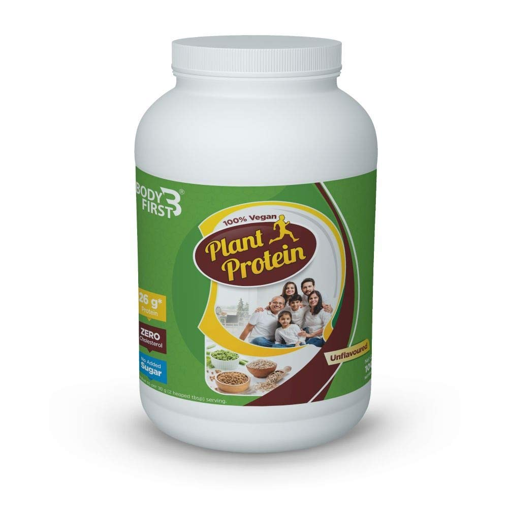 BodyFirst Plant Protein Isolate, 100% Vegan 1KG - NutraC - Health & Nutrition Store