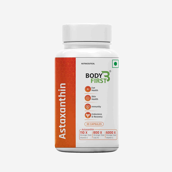 BodyFirst Astaxanthin,Super Antioxidant, 4mg(30Caps), Each Capsules Per Day - NutraC - Health & Nutrition Store