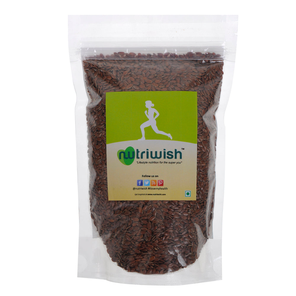 Nutriwish Raw Flax Seeds 250g - NutraC - Health & Nutrition Store
