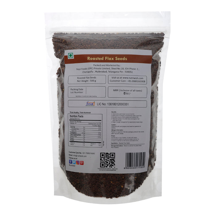 Nutriwish Roasted and Salted Flax Seeds 500g