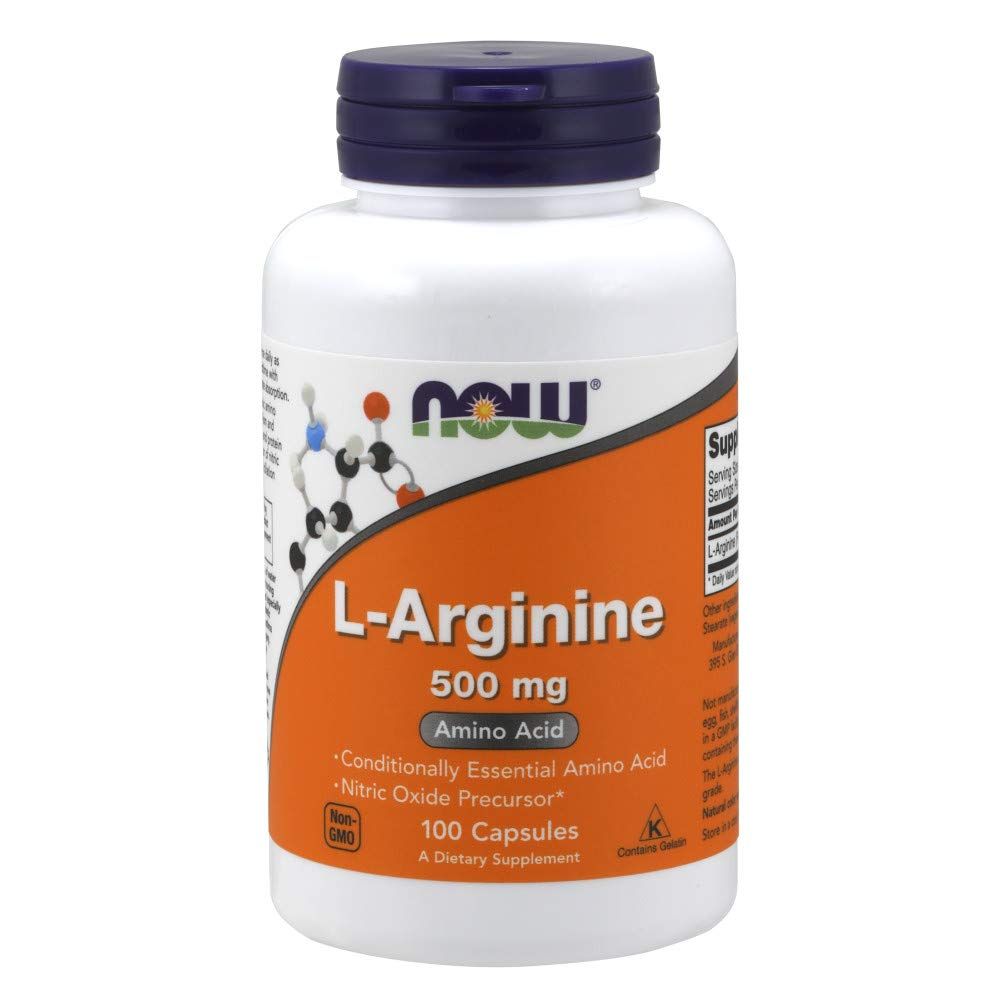 Now Foods L-arginine 500mg - 100 Capsules - NutraC - Health & Nutrition Store