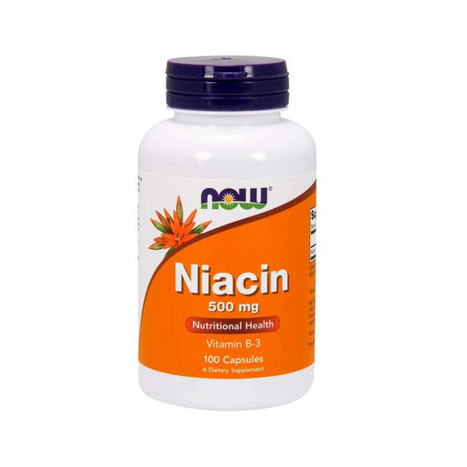 Now Foods Niacin 500Mg Capsules - 100 Casules - NutraC - Health & Nutrition Store