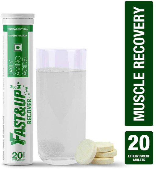 Fast&Up Recover with Essential Amino Acids for Muscles - 20 Effervescent Tablets - Raspberry Flavor