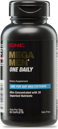 GNC Mega Men One Daily - Dietary Supplement (60 Caplets) - NutraC - Health & Nutrition Store