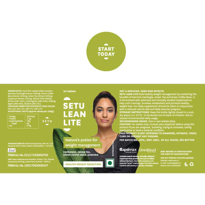 Setu Lean Lite - 30 Tablets - NutraC - Health & Nutrition Store