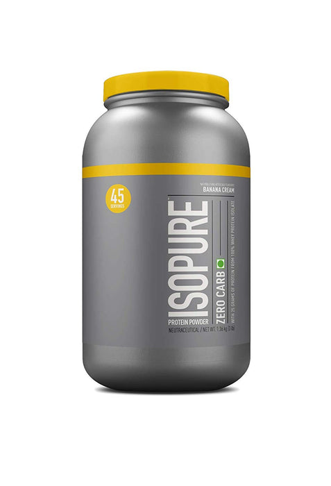 Isopure Low Carb 100% Whey Protein Isolate Powder - 3 lbs, 1.36 kg (Banana Cream) - NutraC - Health & Nutrition Store