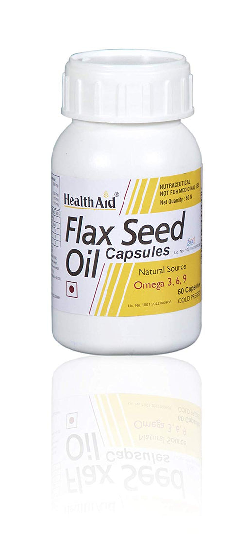 HealthAid Flaxseed Oil 1000mg (Omega 3.6.9) -60 Capsules - NutraC - Health & Nutrition Store