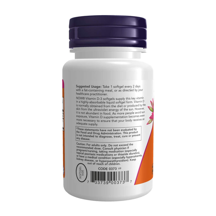 Now Foods Vitamin D3 5000 Iu - 240 Softgels - NutraC - Health & Nutrition Store