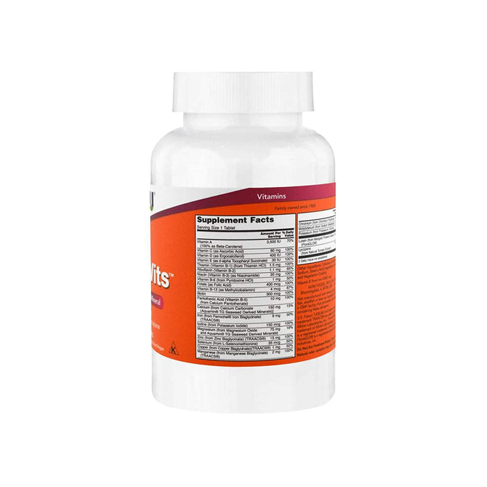 Now Foods Daily Vits Tablets - 100 Capsules - NutraC - Health & Nutrition Store