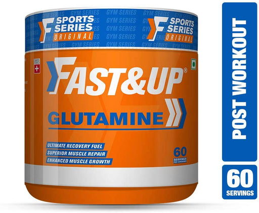 Fast&Up Glutamine Supplement - 5g Micronized L-Glutamine - Muscle growth and recovery - 30 servings - Unflavoured - NutraC - Health & Nutrition Store