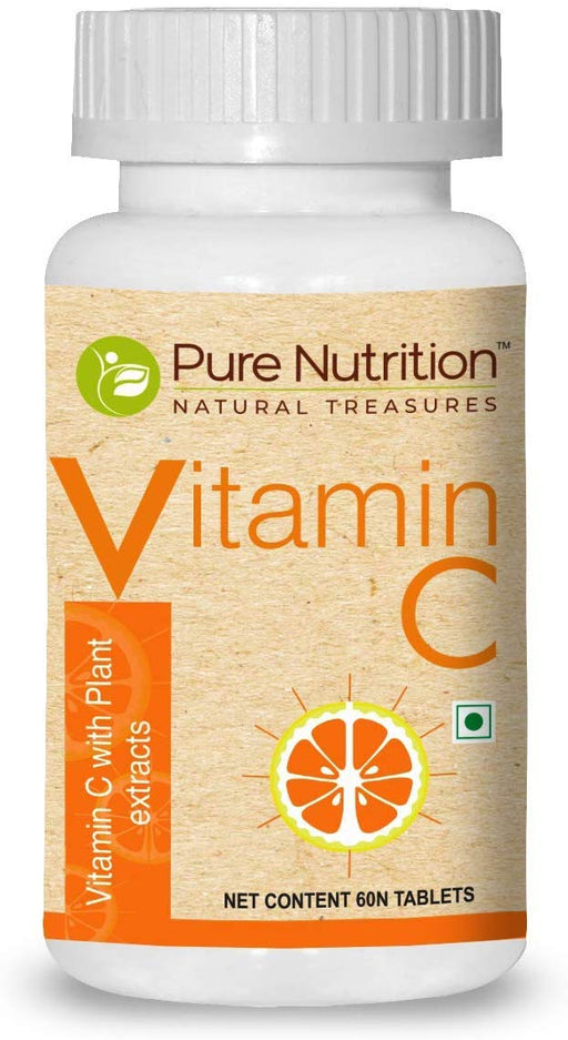 Pure Nutrition Vitamin C Plant Extract Amla and Orange peel extract -60 tablets - NutraC - Health & Nutrition Store