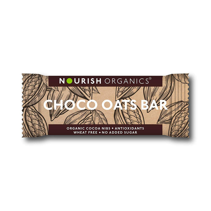 Nourish Organics Choco Oats Bar - Pack of 6 (30g x 6) - NutraC - Health & Nutrition Store